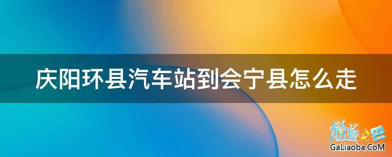 庆阳环县汽车站到会宁县怎么走