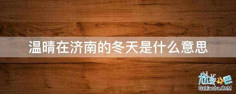 温晴在济南的冬天是什么意思